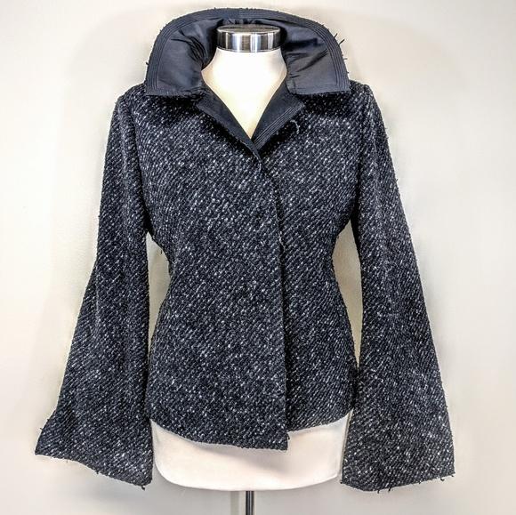 charles nolan Jackets & Blazers - Charles Nolan Bell Sleeve Tweed Jacket